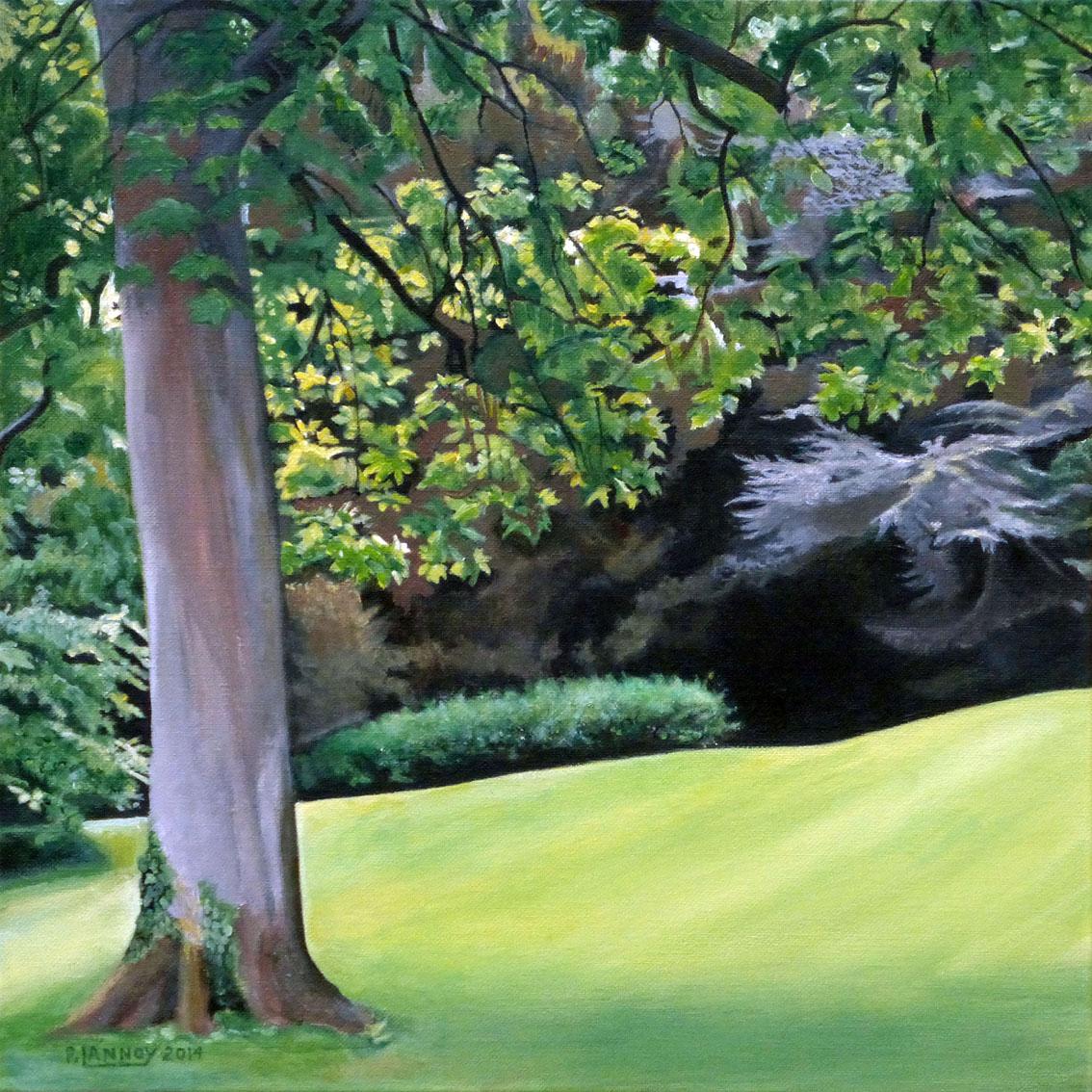 Patrice Lannoy Tableau Realiste Figuratif Paysage Jardin Anglais